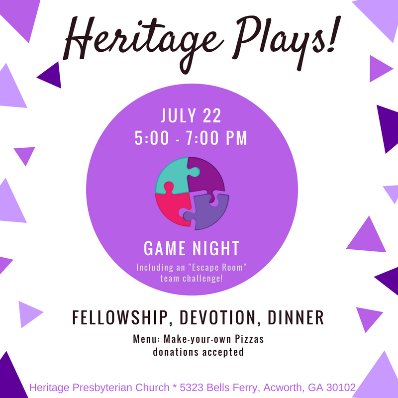 Heritage Plays: Game Night
