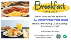 2nd Sunday Fellowship Lunch